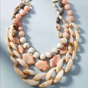 Anthropologie Afterglow Layered Resin Necklace